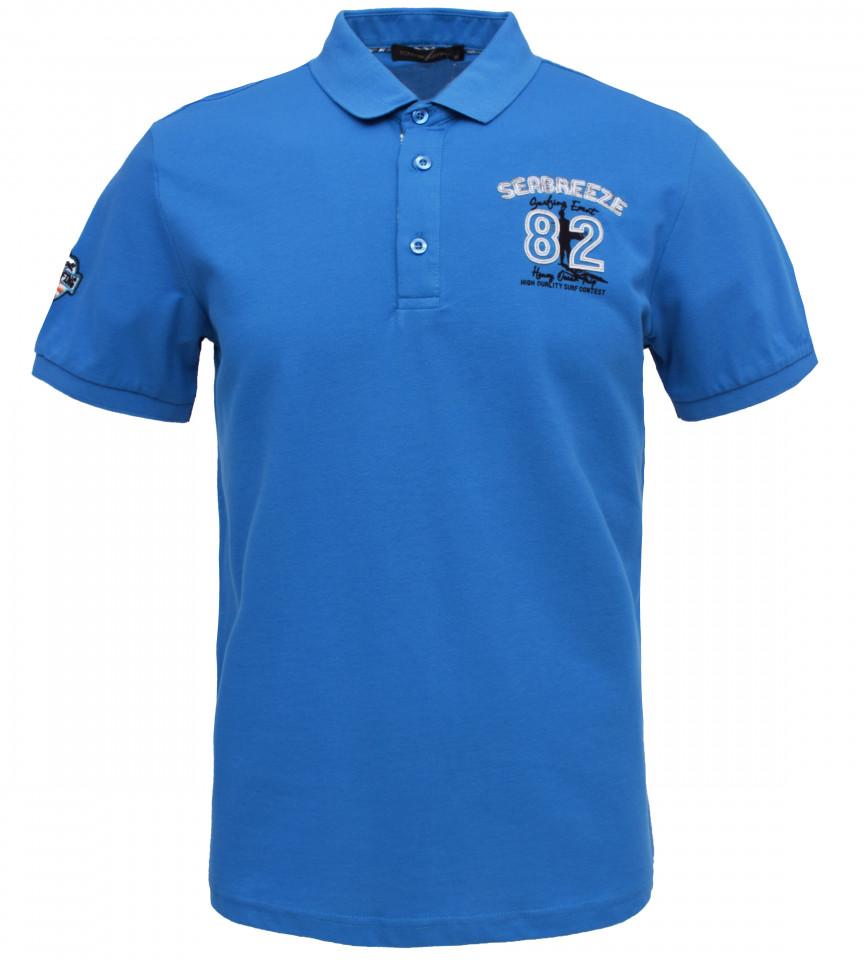 "Tricou Polo Barbati Regular Tony Montana "" Breeze "" albastru"