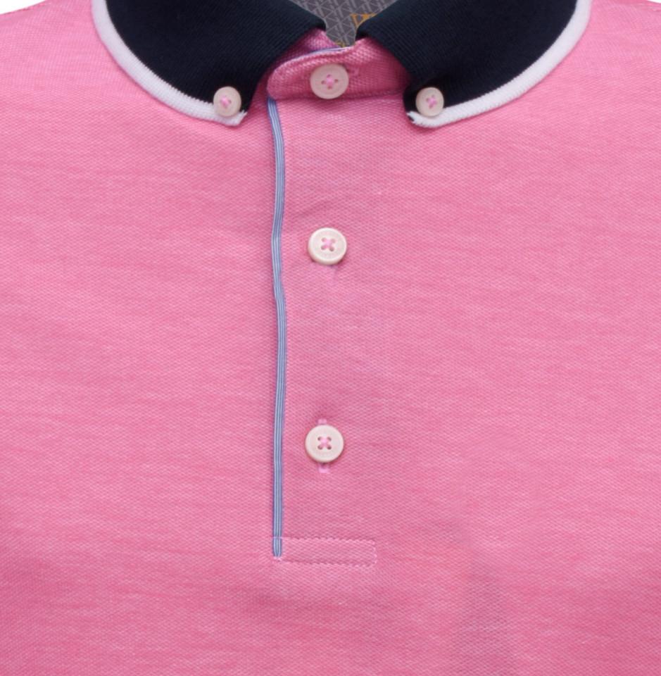 Tricou Polo Regular fit- roz