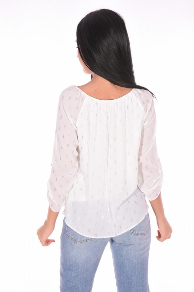 Bluza cu imprimeu argintiu