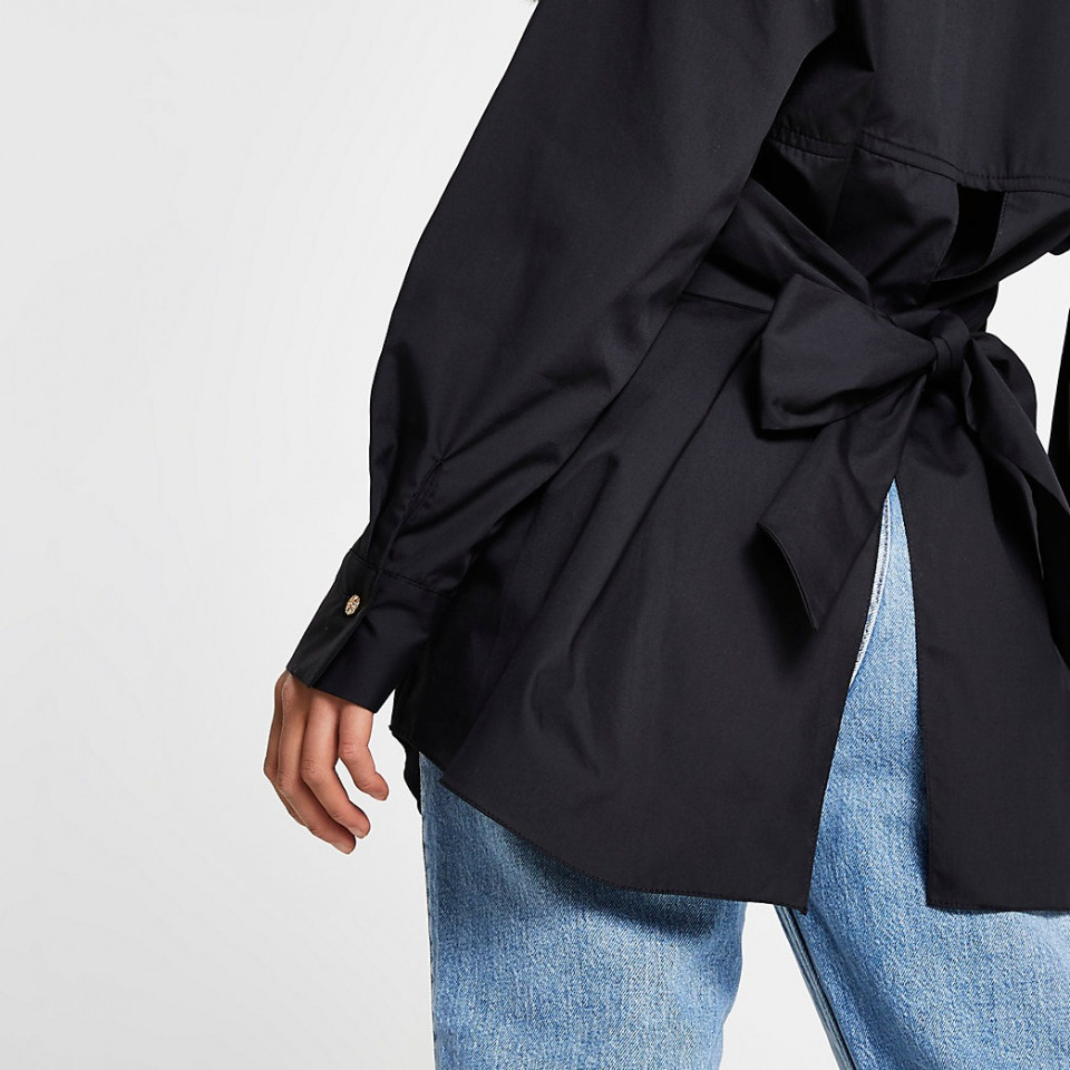 Camasa asimetrica -negru-