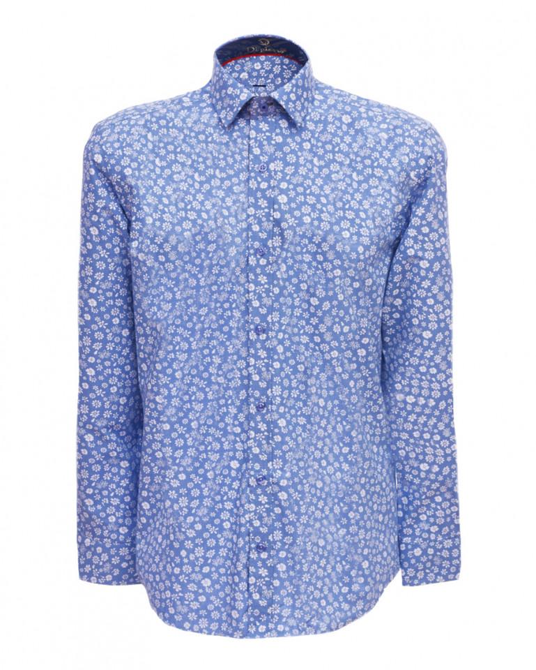 Camasa barbati cu imprimeu floral- albastru-