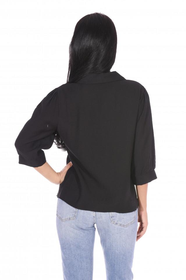 Camasa dama eleganta cu guler - negru-