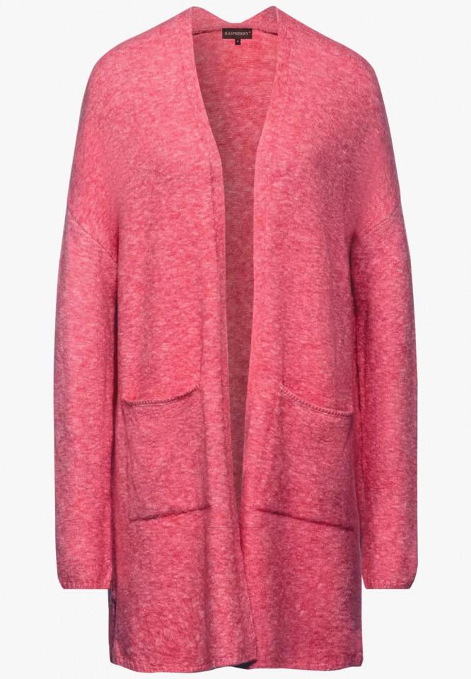 Cardigan lung din tricot flexibil E