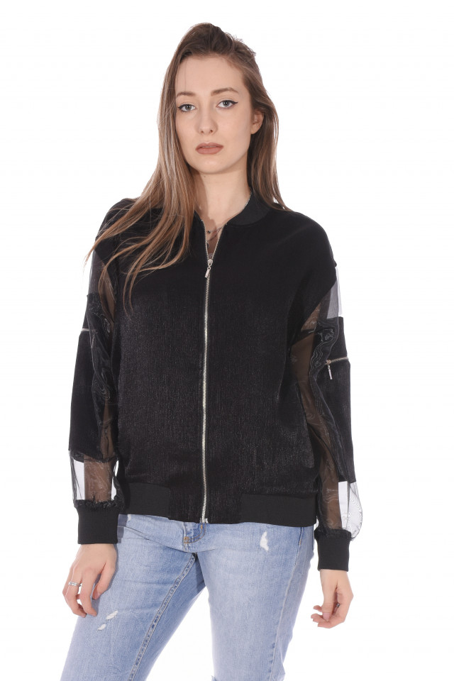 Jacheta dama sport/casual - negru-E-