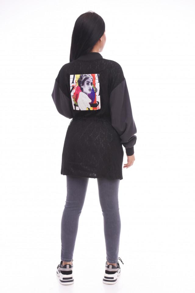 Jacheta dama sport /casual - negru-