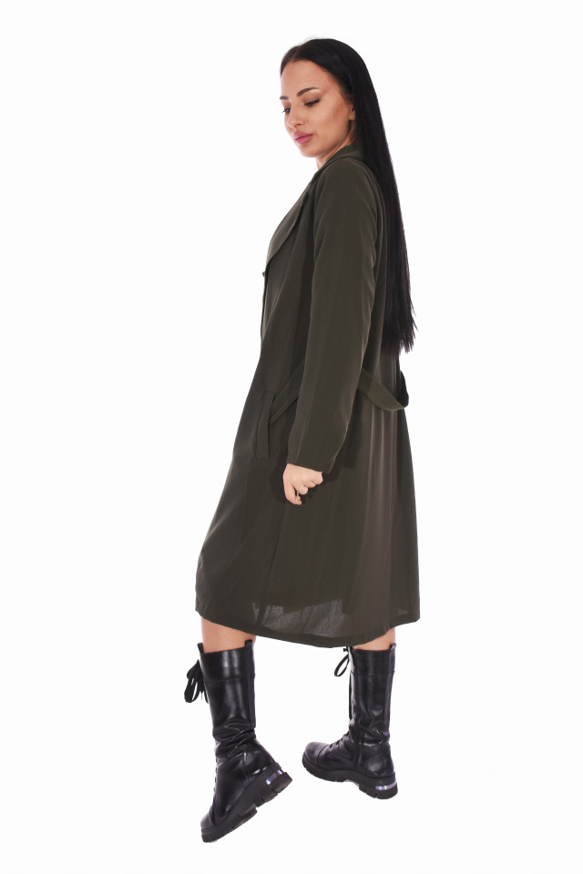 Jacheta/trench dama casual - kaki-