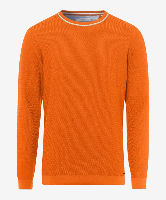 Pulover portocaliu cu guler rotund BRAX