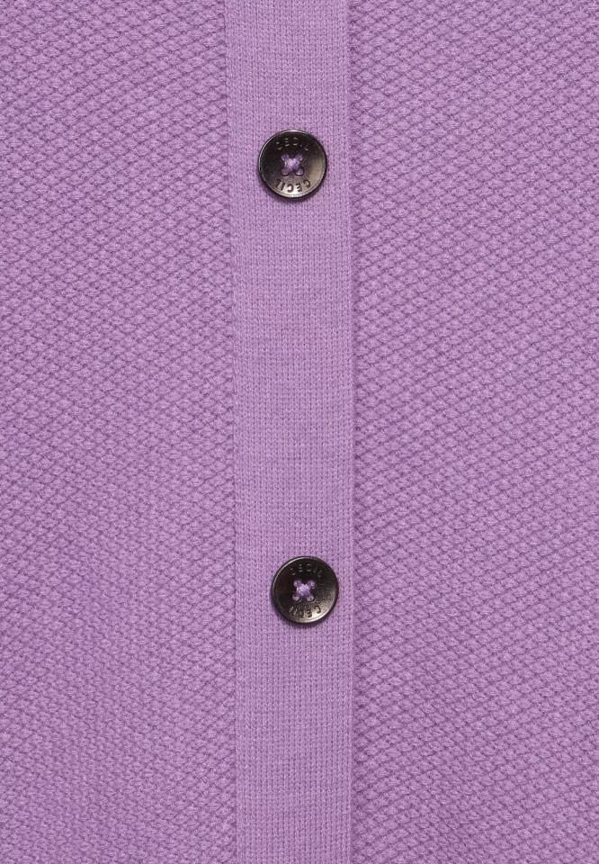 Pulover texturat cu nasturi pe spate - mov