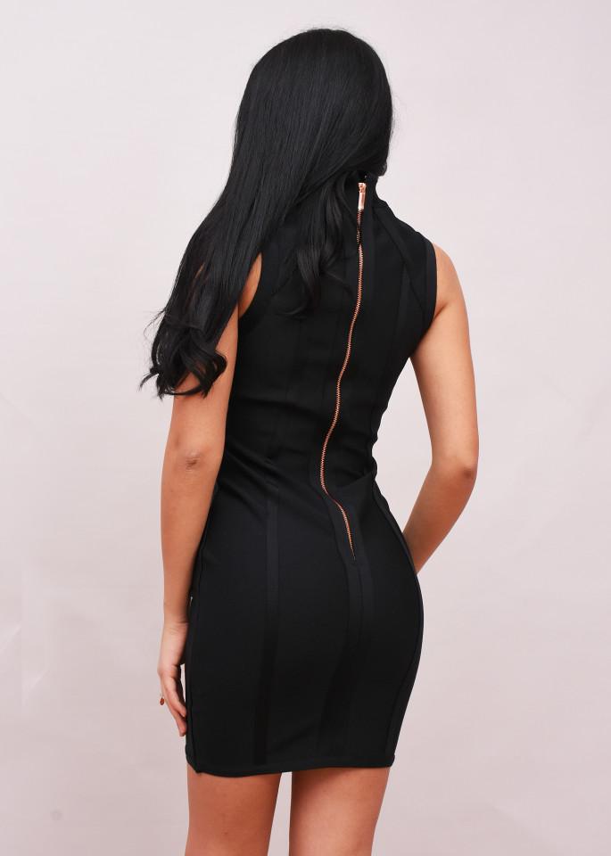Rochie bodycone neagra The Girlcode - E