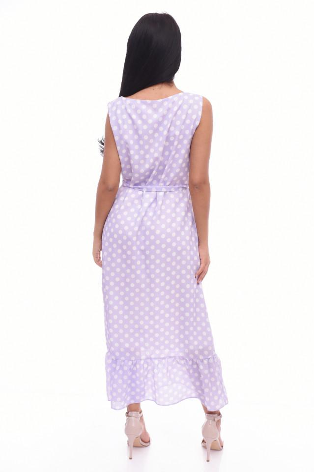 Rochie lunga cu buline Anastasia- lila-E