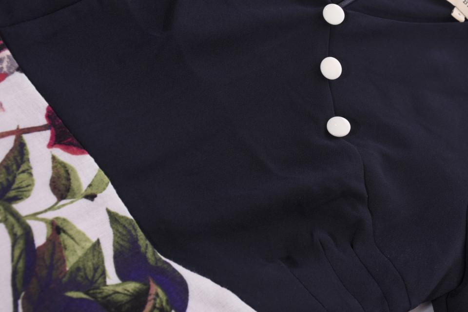 Rochie midi eleganta cu imprimeu floral LORA-E