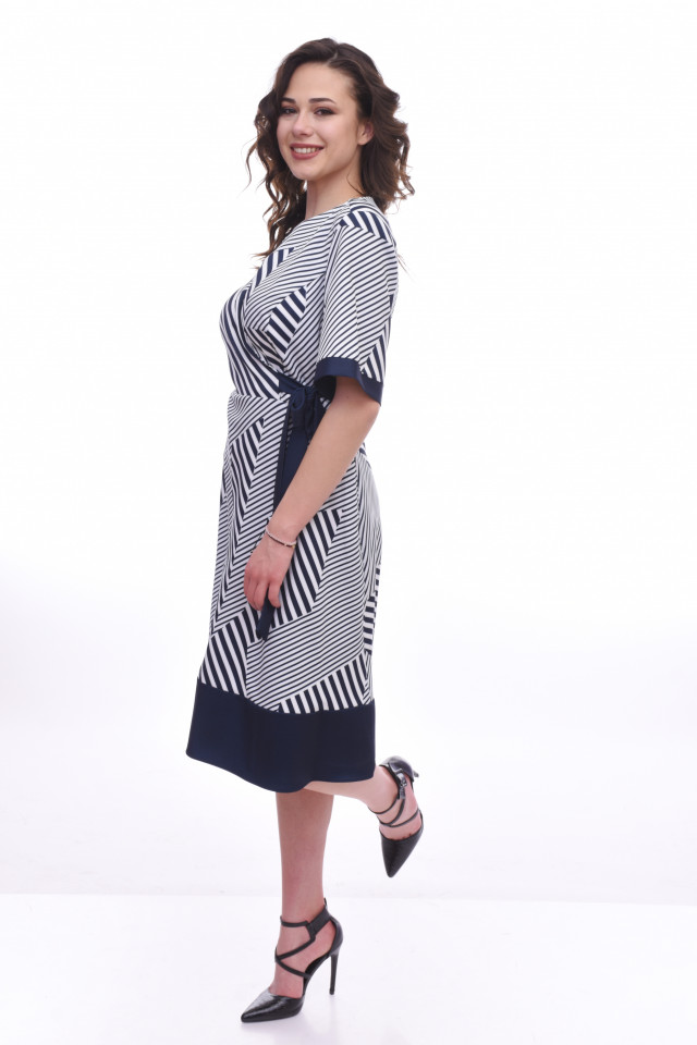 Rochie midi eleganta Ranya - bleumarin