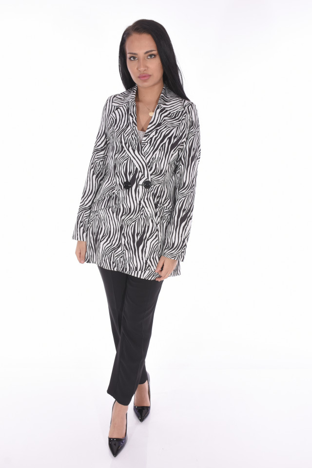 Sacou casual animal print