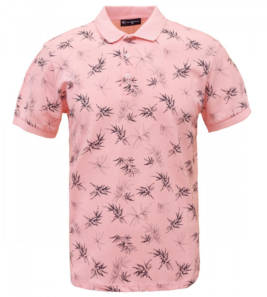 Tricou Polo Barbati Regular Fit Tony Montana- Floral -roz