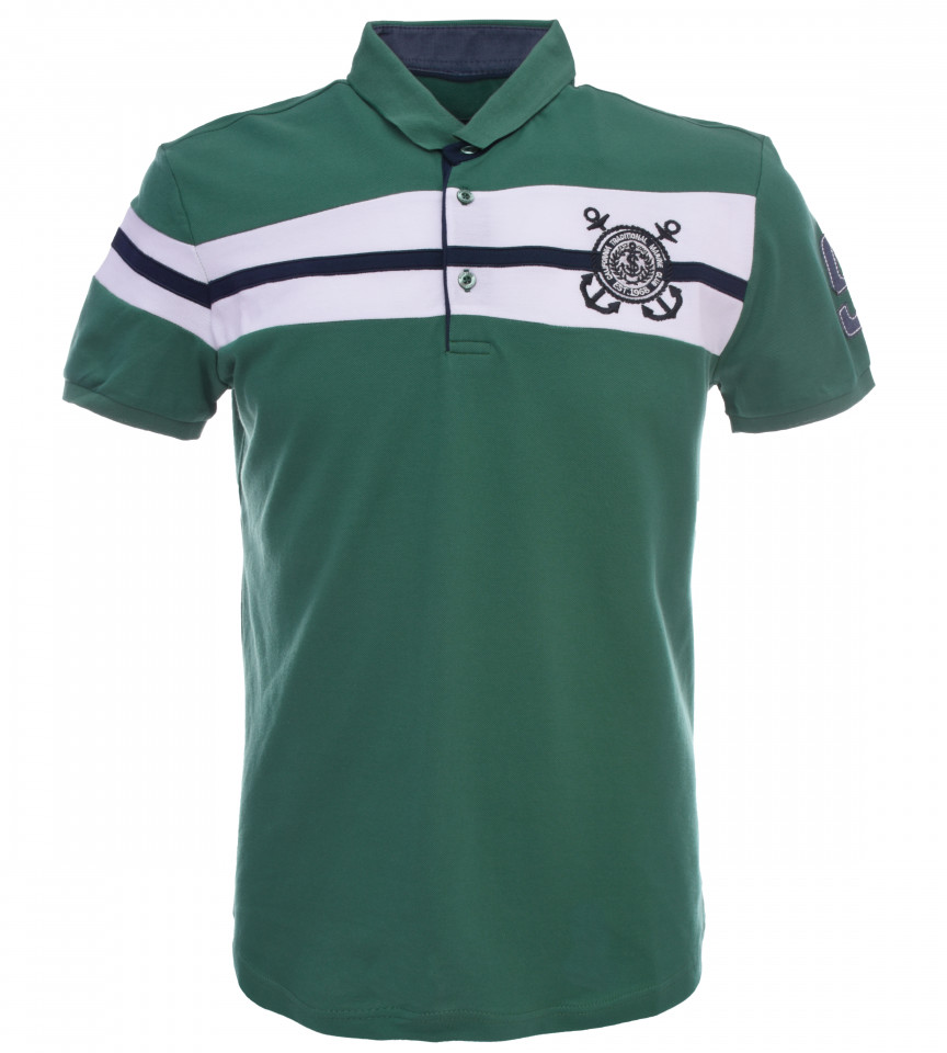 Tricou Polo Barbati Regular fit Tony Montana - Sailor-verde