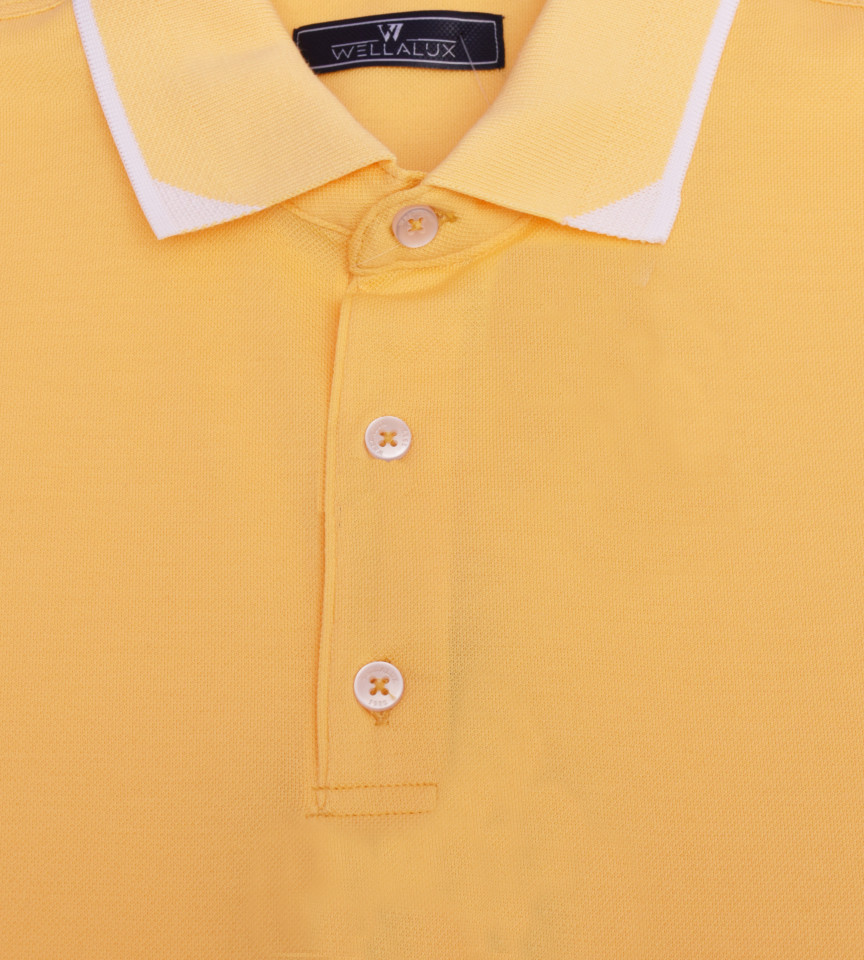 Tricou Polo Regular fit- galben