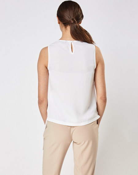 Wrap Tie Up Side Sleeveless Top New Look