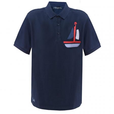 Tricou Bleumarin Polo Tony Montana