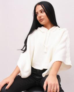 Bluza din tricot oversize cu gluga