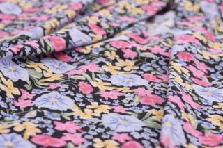 Bluza din vascoza cu imprimeu floral-roz-