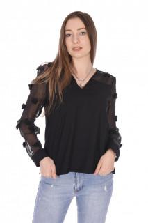 Camasa eleganta cu ciucuri-negru-