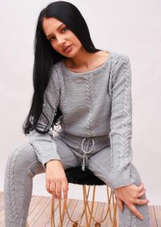Compleu tricotat gri