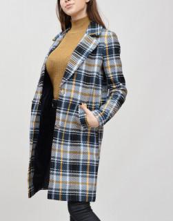 Palton cu croi drept in carouri