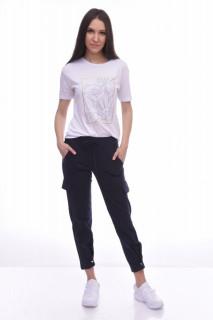 Pantaloni dama sport cargo - bleumarin -