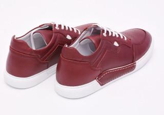 Pantofi sport barbati grena din piele naturala Tony Montana