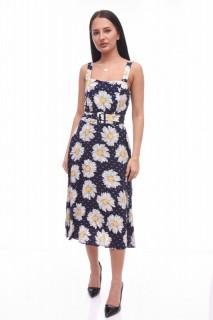Rochie cu imprimeu floral Anna - negru