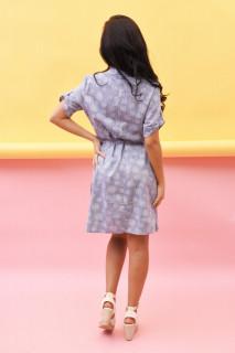 Rochie dama midi tip camasa asimetrica Lelia