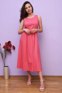 Rochie midi dama casual -roz