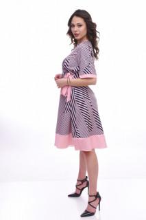 Rochie midi eleganta Ranya - roz