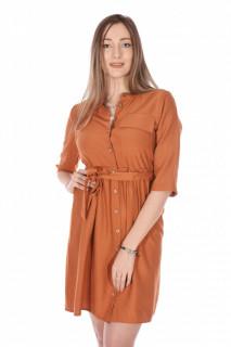 Rochie tunica cu cordon- caramiziu-E