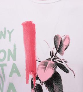 Tricou Casual Barbati Slim Fit Tony Montana- Endless Paradise - alb