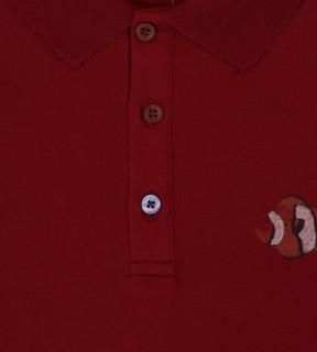 Tricou Polo Barbati Regular Fit Tony Montana -grena