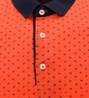 Tricou Polo Barbati Regular fit Wellalux cu imprimeu - portocaliu