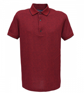 Tricou Polo Regular fit- grena cu imprimeu