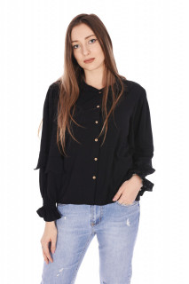 Camasa eleganta Evelyn - negru-