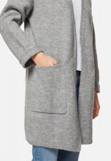 Cardigan din tricot gros cu buzunare - GRI