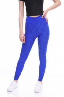 Colanti fitness cu talie inalta si efect modelator-albastru-