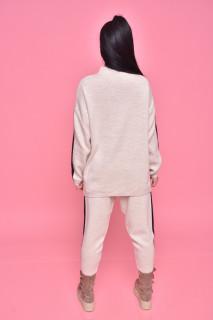 Compleu dama Alma doua piese din tricot bej
