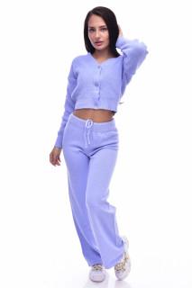 Compleu dama ELLA din tricot - doua piese- bleu