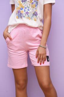 Pantaloni scurti casual- roz-E-