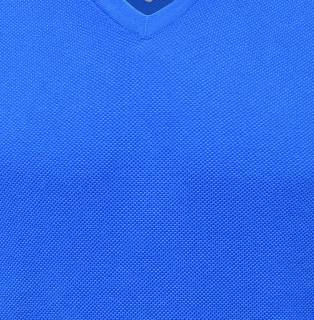 Pulover albastru cu guler in V BRAX