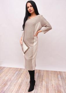 Rochie lunga din tricot cu paiete aplicate