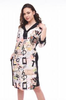 Rochie midi eleganta cu imprimeu multicolor Iris