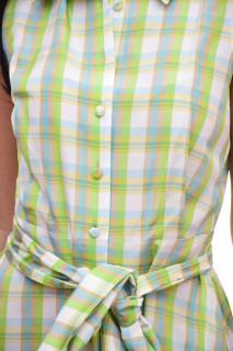 Rochie midi tip camasa -verde lime-E-