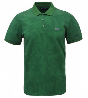 Tricou Polo Barbati Regular Fit Tony Montana- Flower-verde