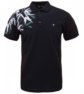 Tricou Polo Barbati Regular Fit Tony Montana- Leaf -bleumarin